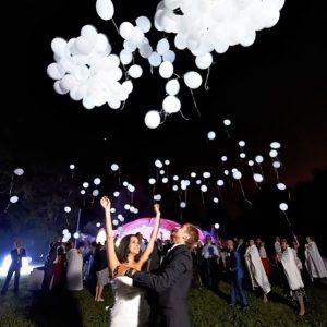 неоновые шары на свадьбу
